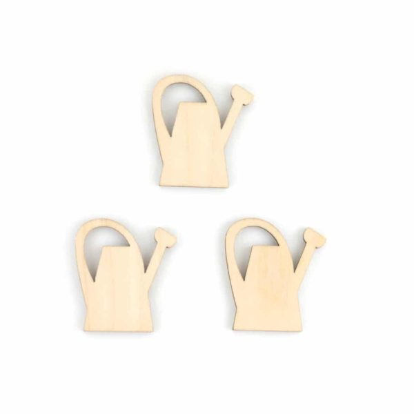 mini wooden watering cans