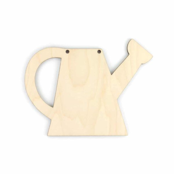 wooden watering can