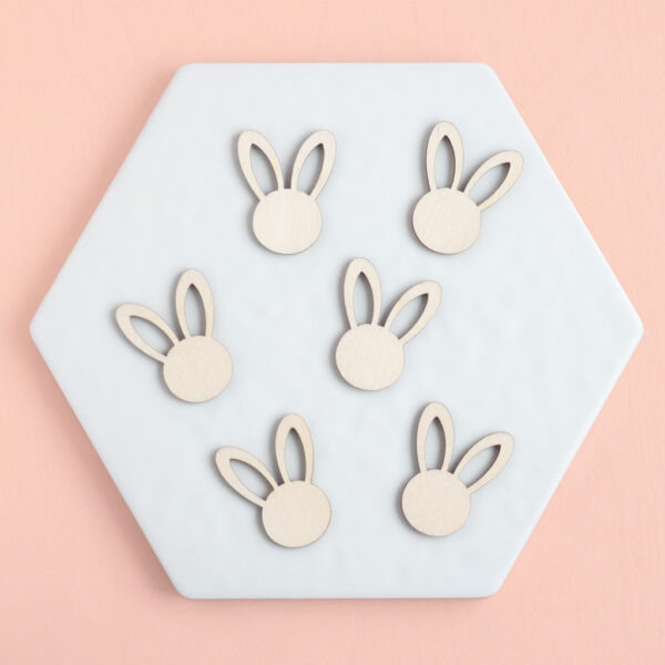 MINI WOODEN BUNNY HEADS