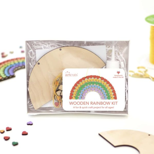 rainbow craft kit wooden