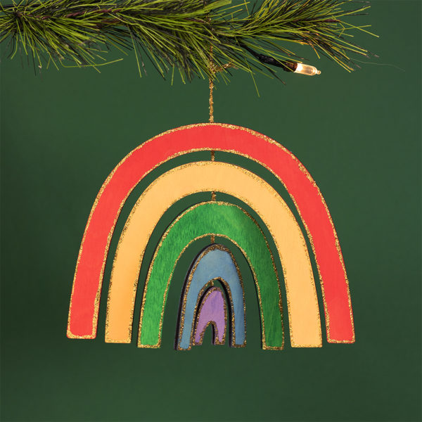 christmas rainbow arches