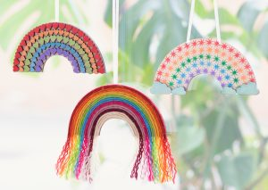 Artcuts wooden rainbow craft