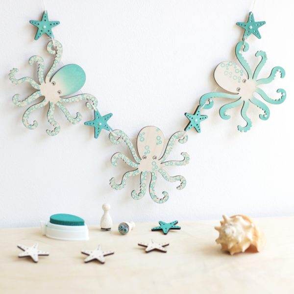 Artcuts Wooden Octopus Craft Kit