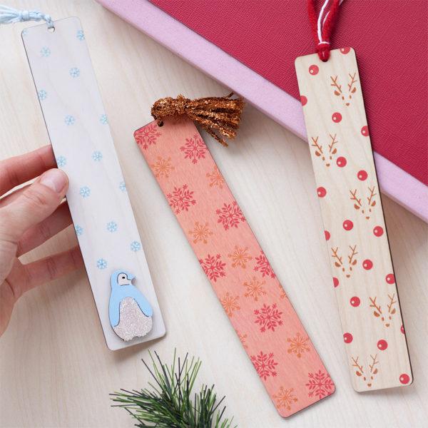festive bookmarks