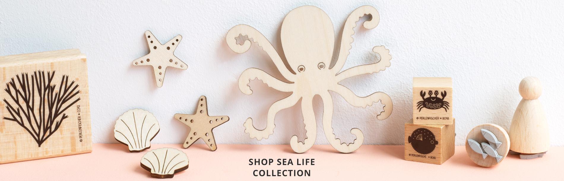 Sea Life Wooden Craft Shapes Artcuts