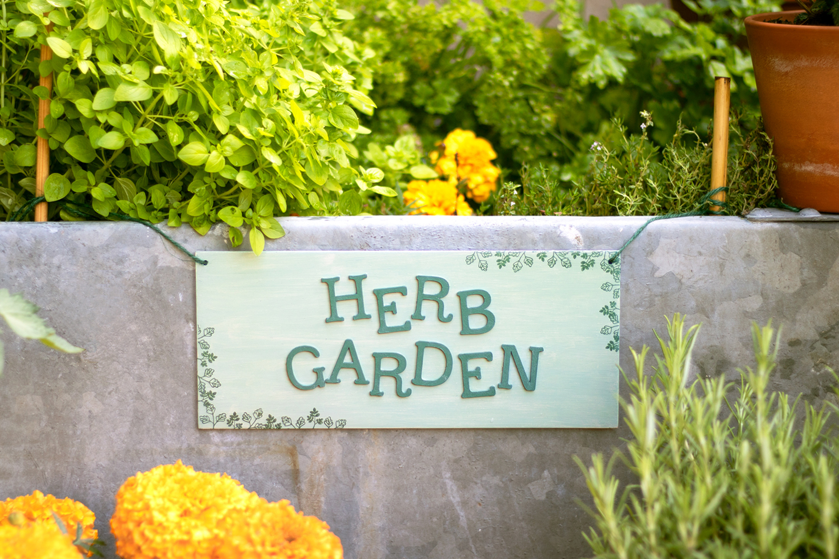 Artcuts Wooden Plaque Herb Garden