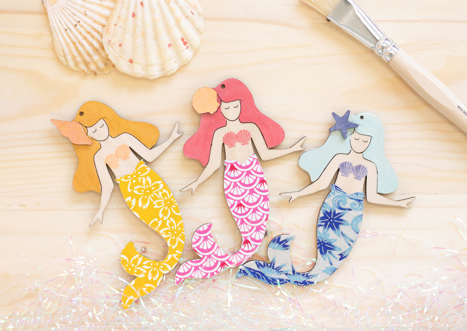 artcuts wooden mermaid craft shapes