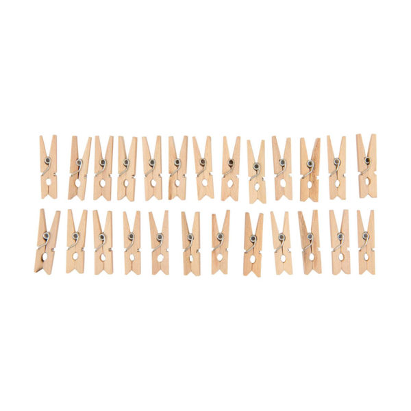 mini wooden pegs