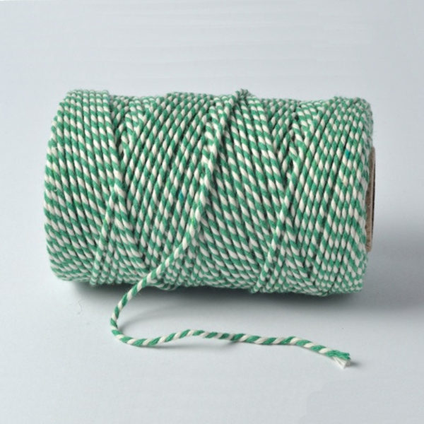 bakers twine emerald and white
