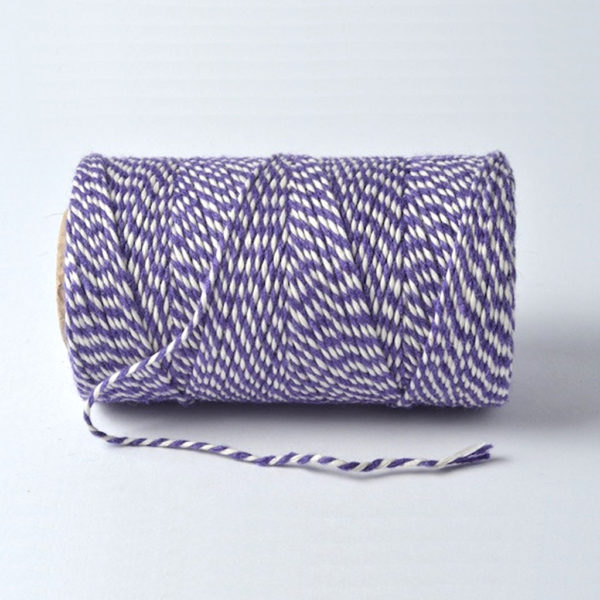 bakers twine purple and white