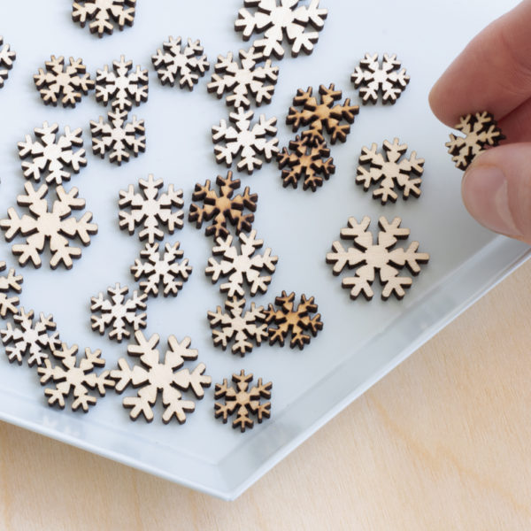 Wooden Mini Mixed Snowflakes