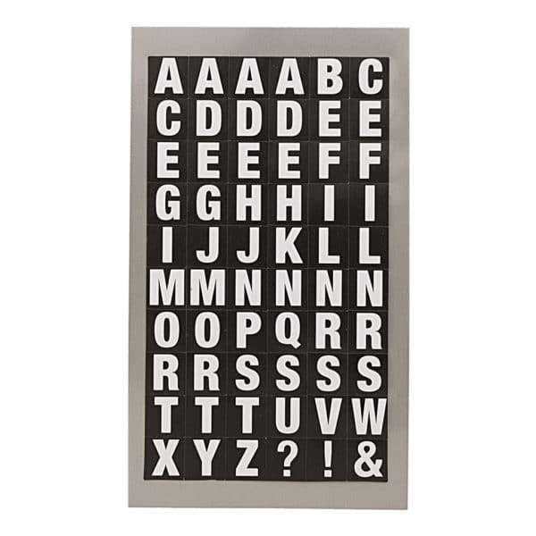Black Alphabet Letter Stickers