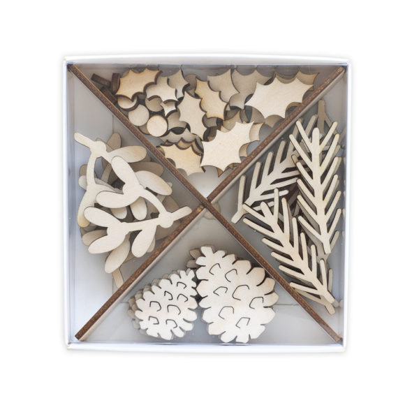 Wooden Embellishment Set ~ Festive Collection