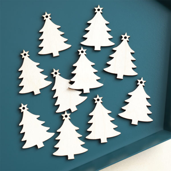 Mini wooden christmas trees