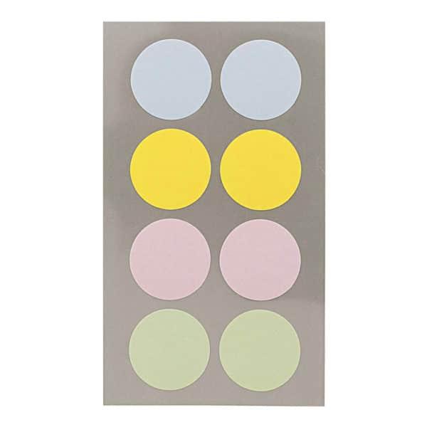 Pastel circle stickers