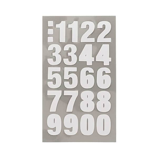 Rico Number Stickers White