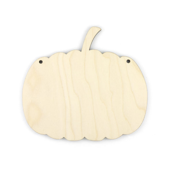 Wooden Halloween Pumpkin
