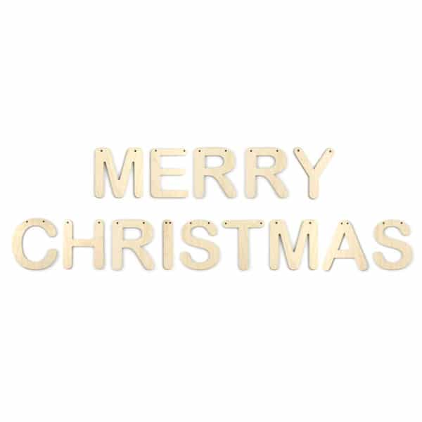 Wooden 'Merry Christmas' Letter Bunting