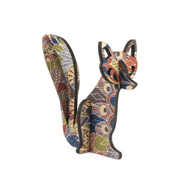 artcuts fox decoration in liberty print