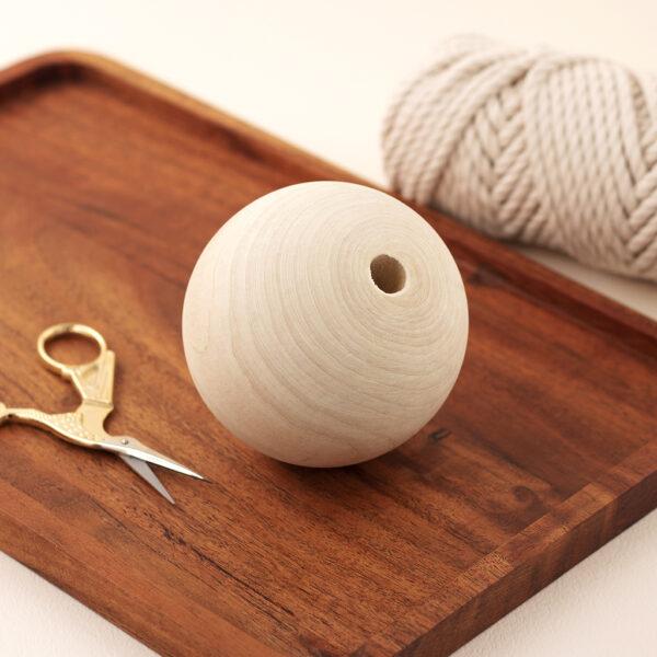 80mm Wooden Bead