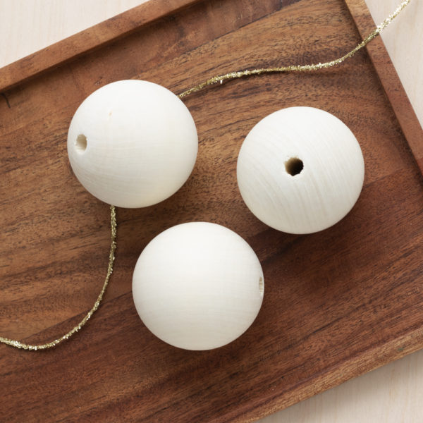 Wooden Baubles 60mm