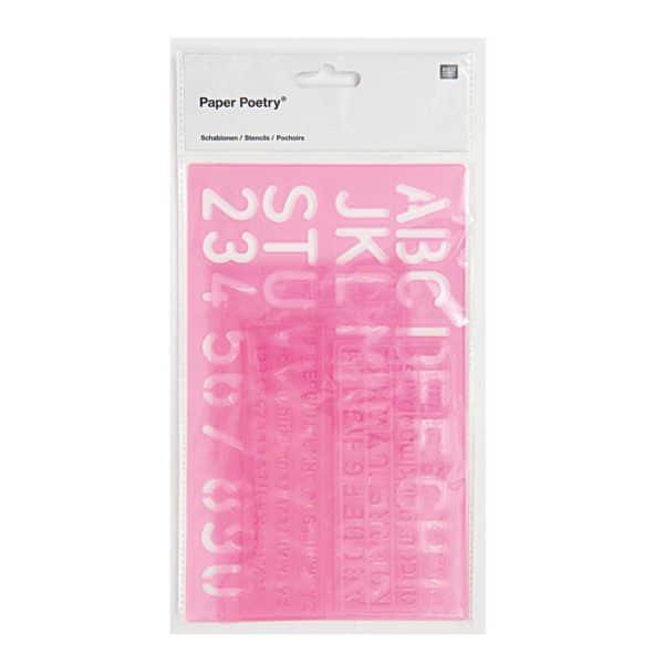 Alphabet & Number Pink Stencils