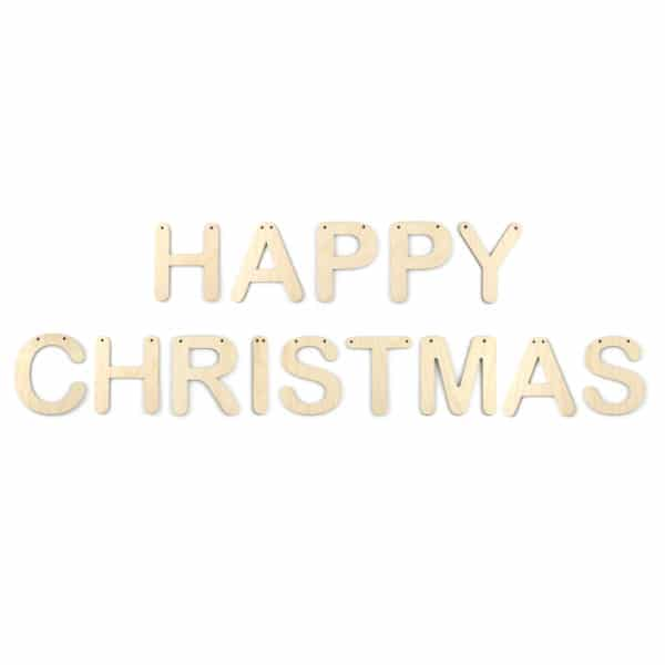 Wooden 'Happy Christmas' Letter Bunting