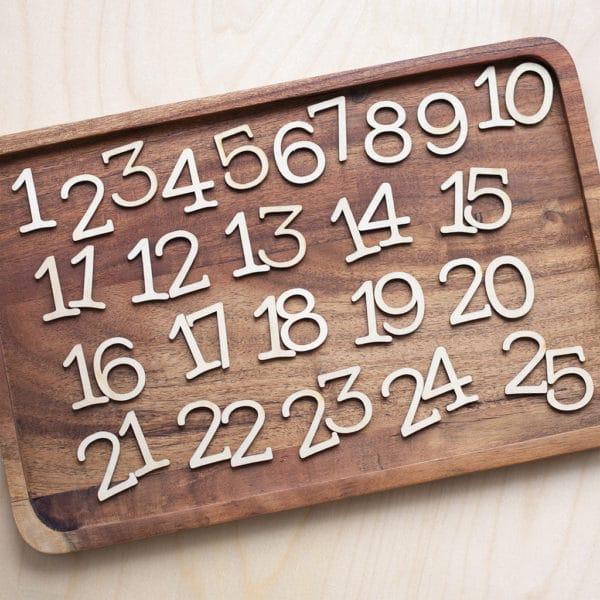 scrapbook numbers 1-25
