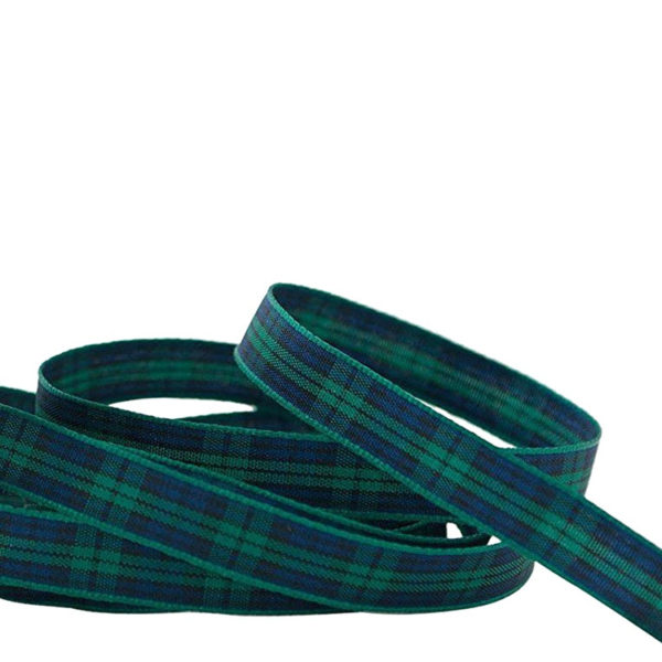 Black Watch Ribbon 10mm Tartan