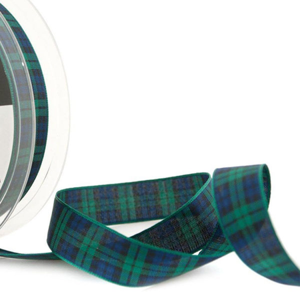 Black Watch Tartan Ribbon 16mm