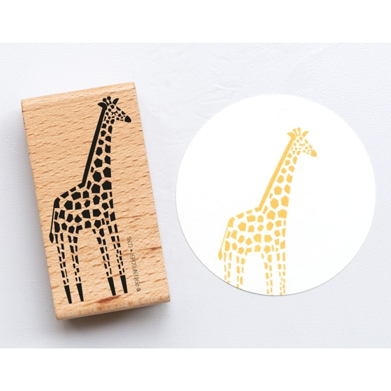 Giraffe rubber stamp by perlenfischer