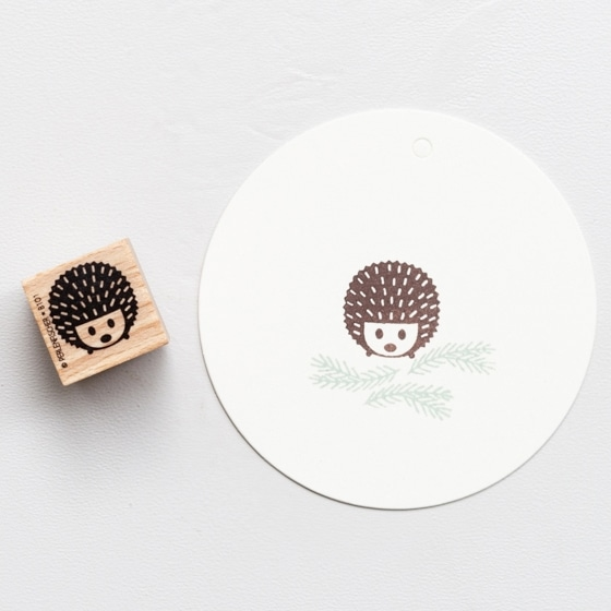 Mini hedgehog rubber stamp by perlenfischer
