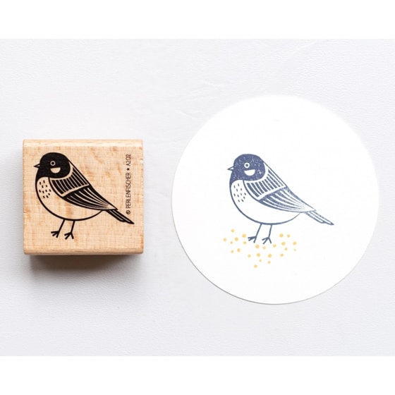 Blue Tit Rubber Stamp by Perlenfischer