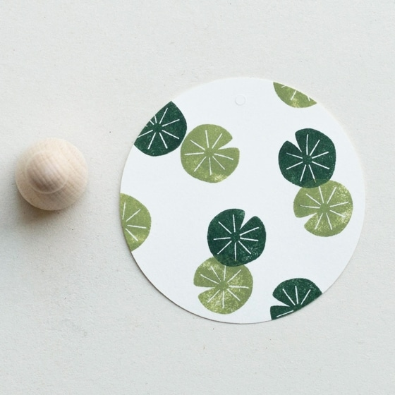 lily pad rubber stamp by perlenfischer