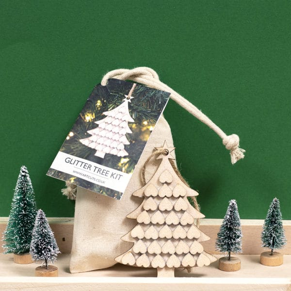 Christmas Tree Wooden Glitter CraftKit