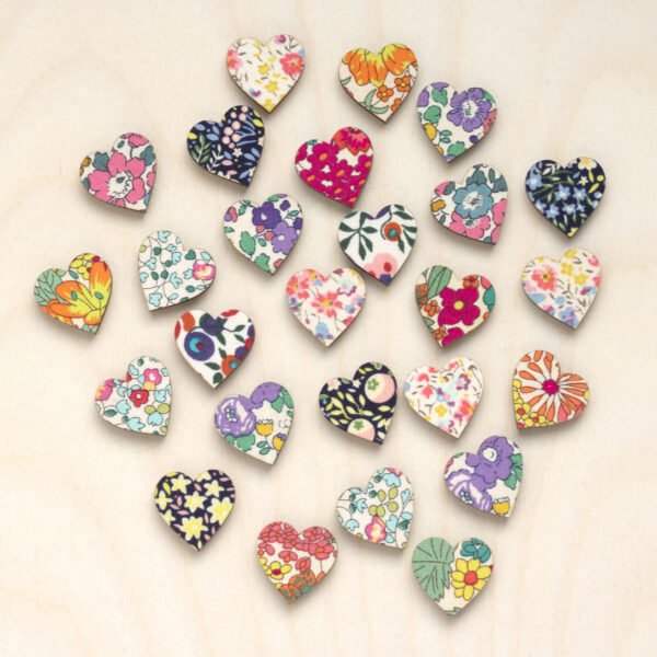 2cm Liberty Embellishments Heart
