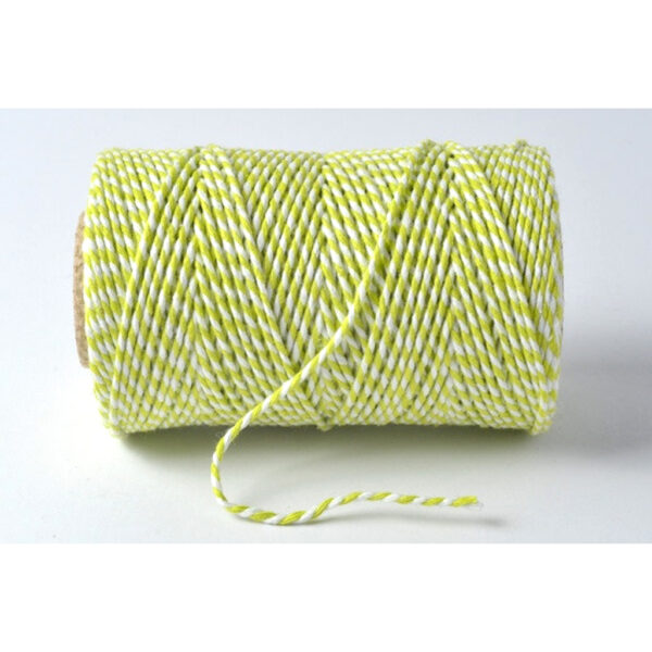 Spring Green & White Bakers Twine