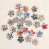 Mini Wooden Blossom Flowers Made With Liberty Fabrics