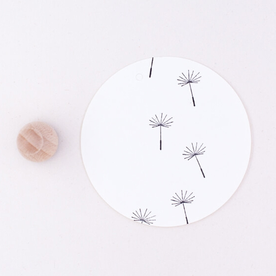 Small dandelion rubber stamp