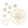 Wooden Flower Pot Components