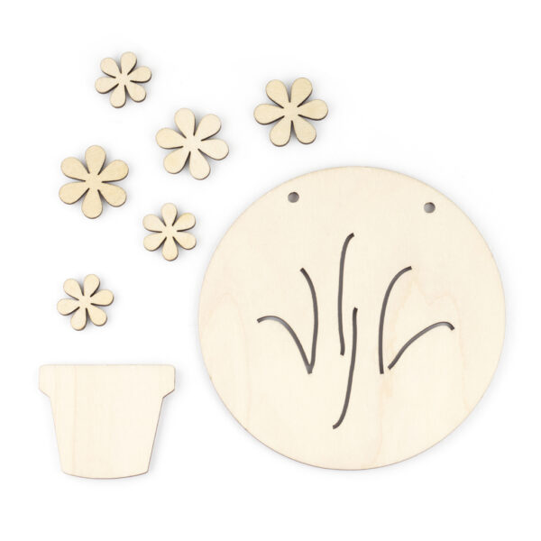 Wooden Flower Pot Components