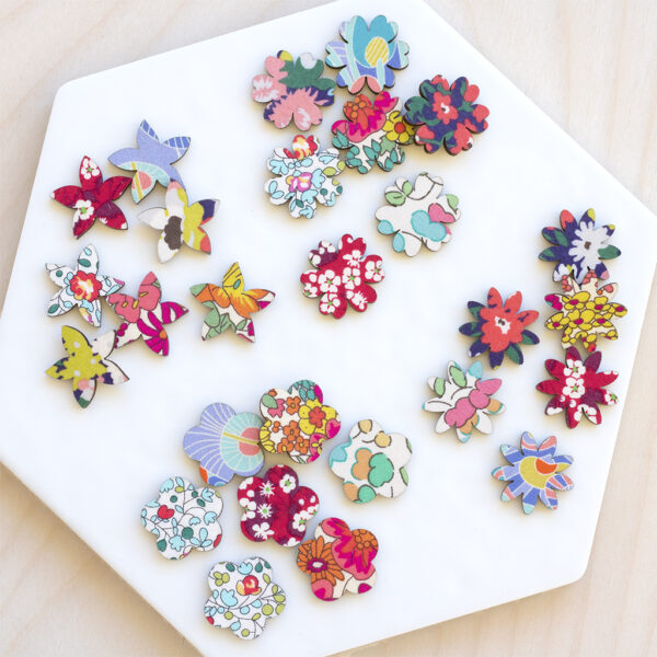 Liberty Fabric Flower Embellishment Set