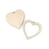 Mini Wooden Heart Frame Components