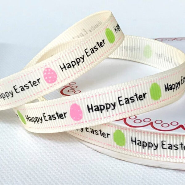 Happy Easter Egg Grosgrain Ribbon