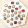 2cm daisy embellishments made with liberty fabric
