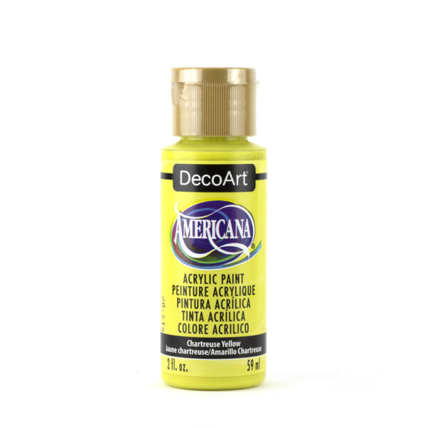 deco art acrylic paint chartreuse yellow