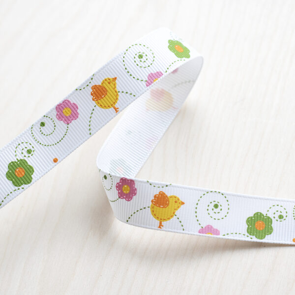 Easter Chicks Pastel Grosgain Ribbon