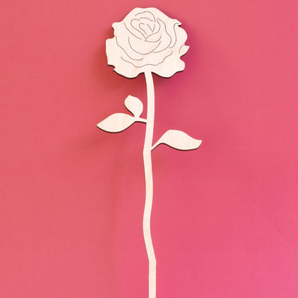 wooden rose stem