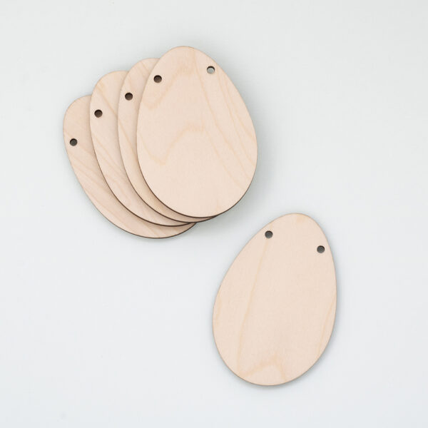 Wooden Easter Egg Bunting