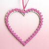 pink wooden heart frame